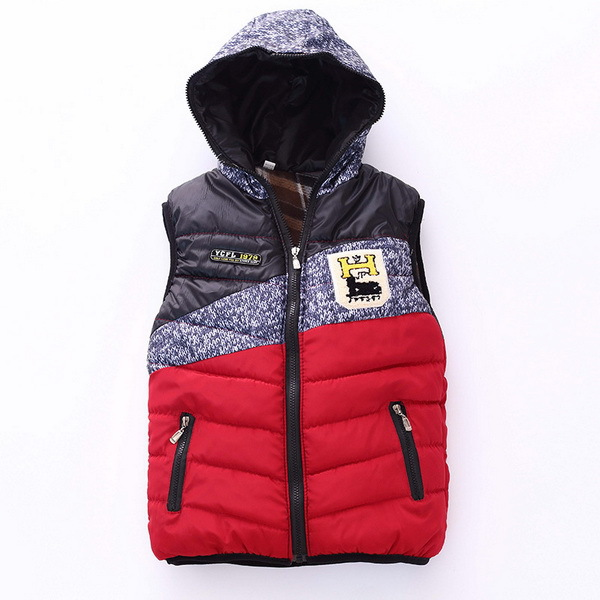 2015 New Winter Vest Children Clothing Brand Baby Girls Boy Casual Waistcoat Hooded Thicken Vest Kids Clothes Colete Infantil