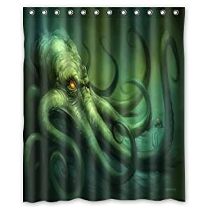Creative 100 Polyester Waterproof Mildew Fabric Shower Curtains
