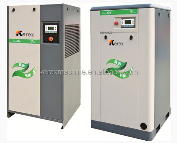 Industrial used 11kw electric driven screw type silent factory air compressor