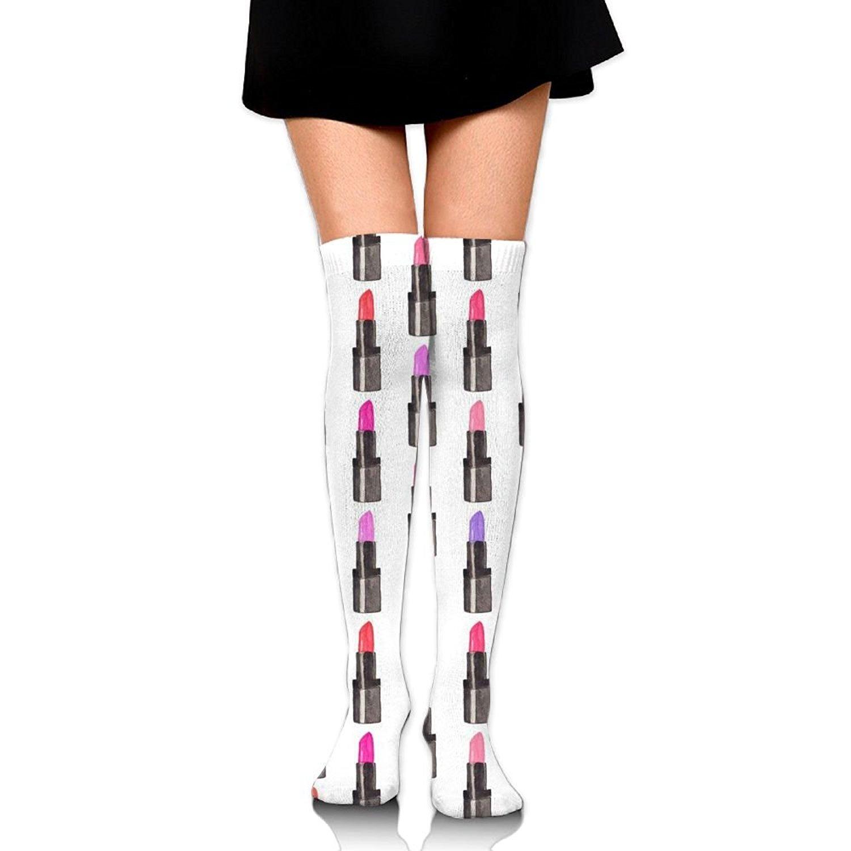 Zaqxsw Lipstick Women Vintage Thigh High Socks Thermal Socks For Girls
