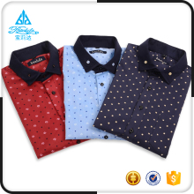 Printed wholesale 2017 new style short-sleeved men's fashion casual shirts