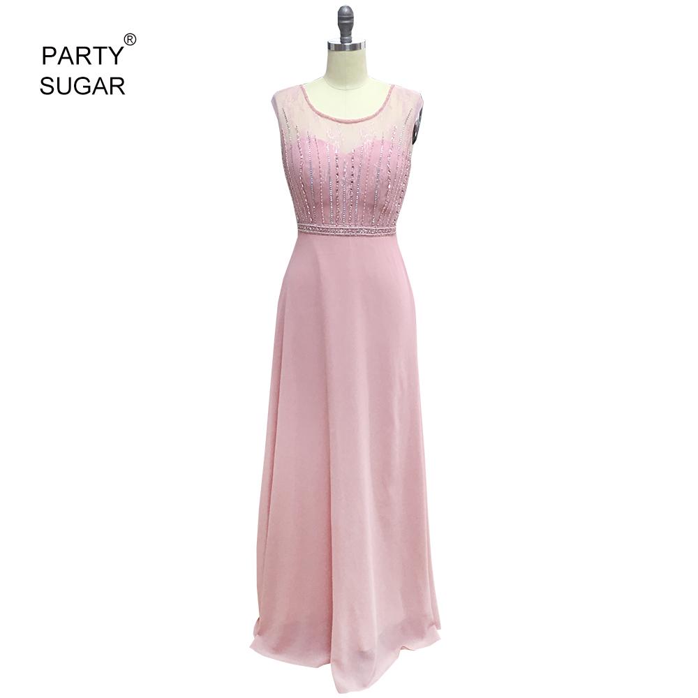 Vestidos de Noche 2018 vestido de color de uñas bordado con cuentas ...