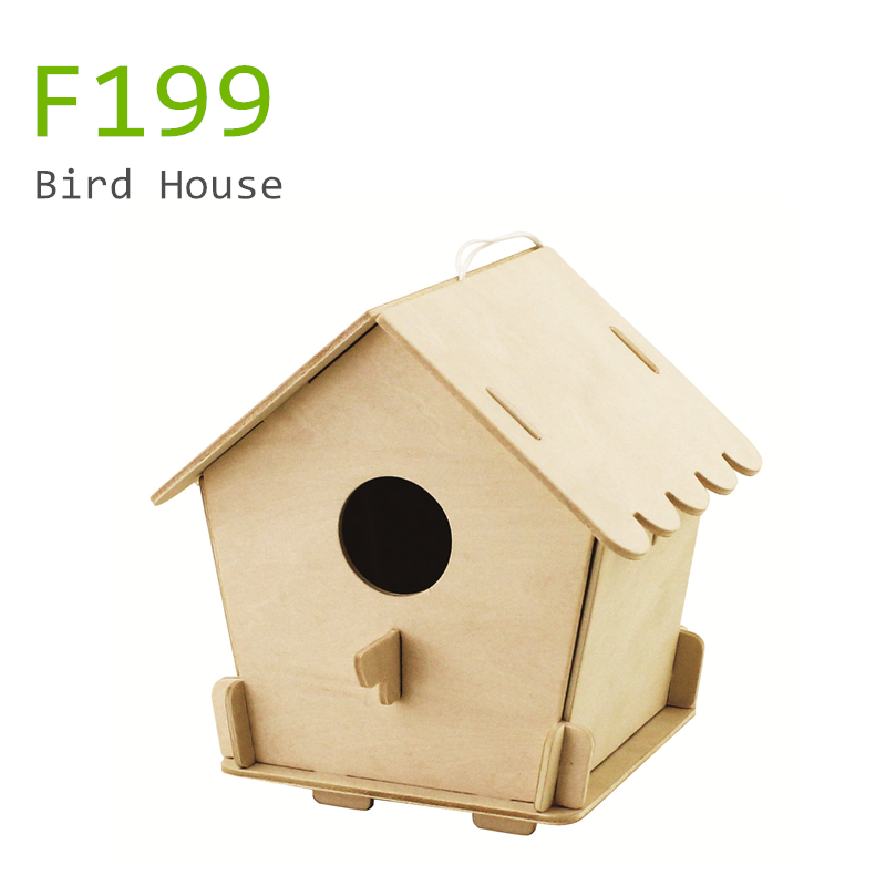 3D wooden bird houses DIY Educational Games -- F197