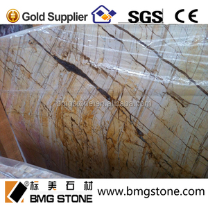Turkish Golden Yellow Marble slab,Picasso gold marble for floor tile