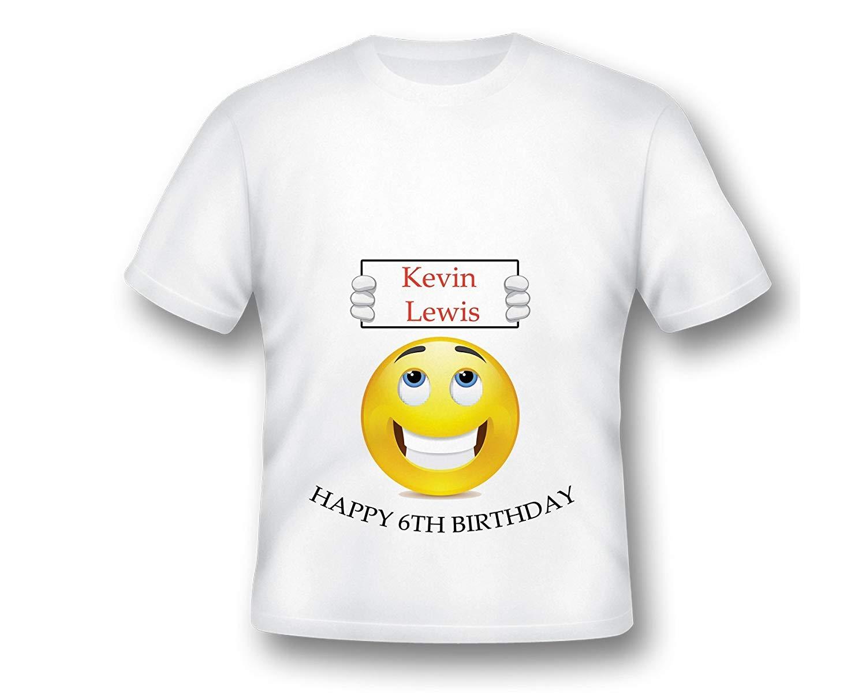 Emoji Birthday T-Shirt, Emoji Tee Shirt, Printed Emoji Shirt, WhiteCustom lol Emoji TShirt, Birthday Shirt, Emoji Custom Shirt