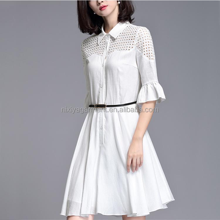 2017卸売ホワイト美しいドレス、ドレス用ジュニア、白パーティードレス