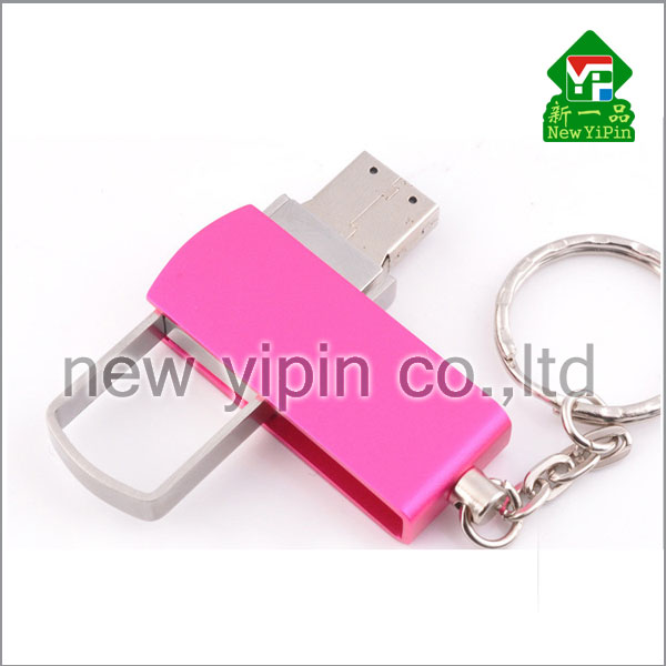 New Yipin Lovely Metal Rotator U Disk High Speed Flash Disk USB Device