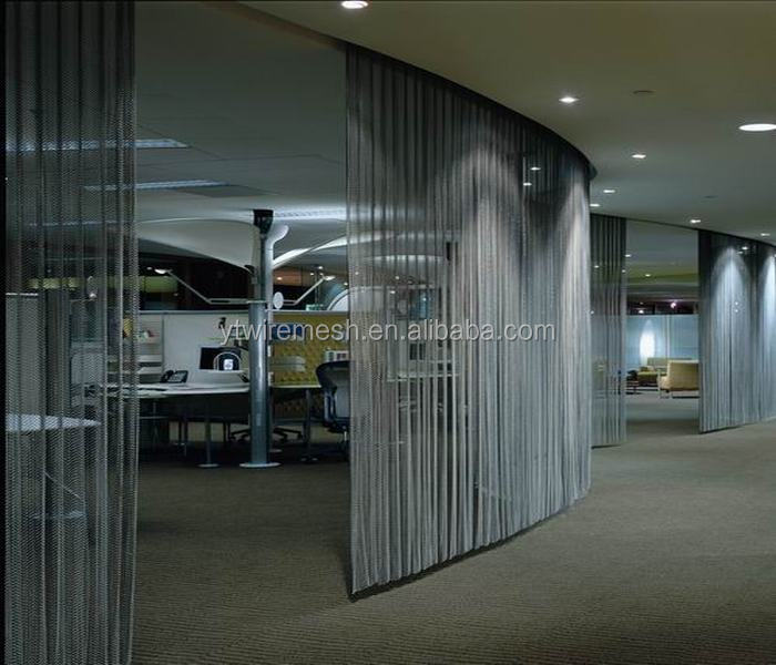 metal room divider partition curtain in hotels or restaurants