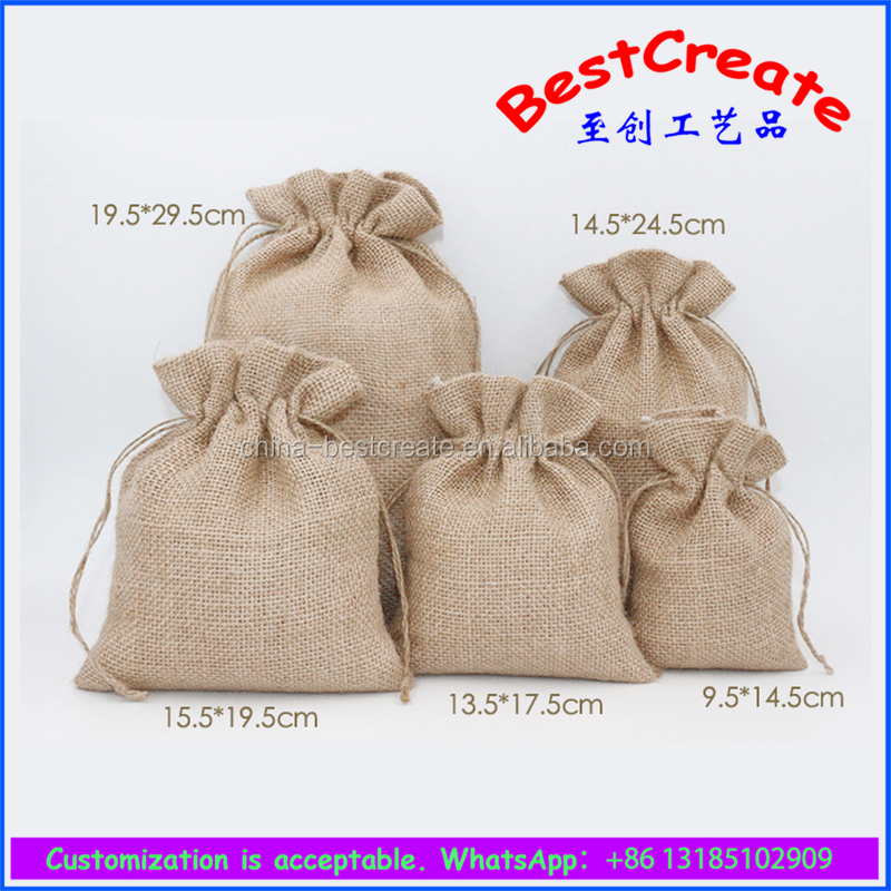 China factory Eco-friend large jute gunny sand sacks nuts packing bags