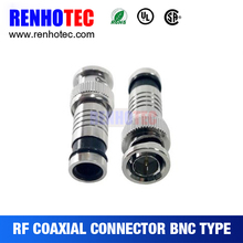 BNC Connector for CCTV Camera for RG6 RG11 Cable
