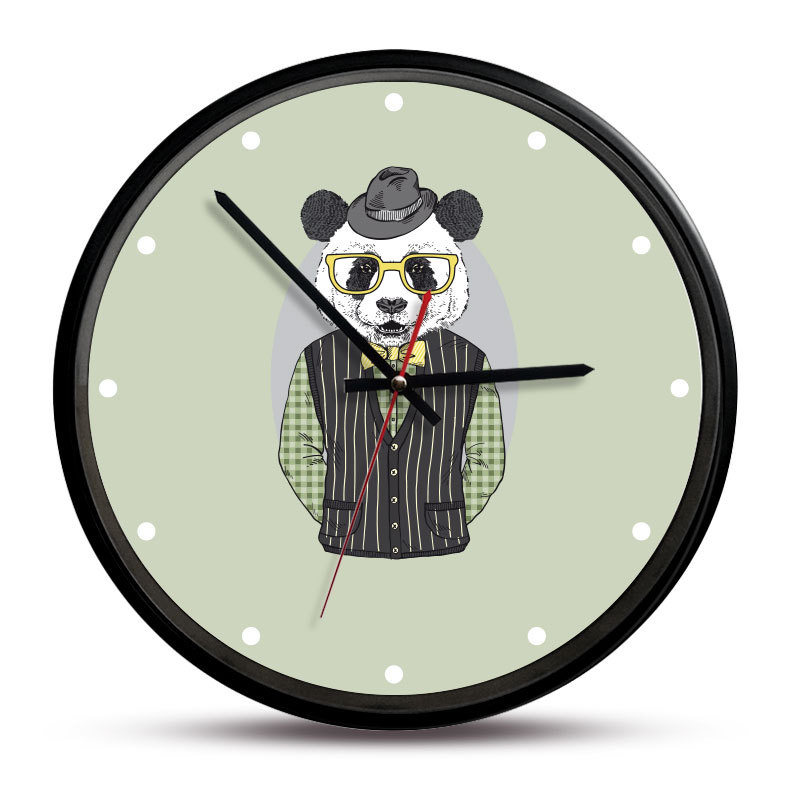 Wholesale Stock Small Order Creative Retro Cartoon Simple Men Wall Clock
