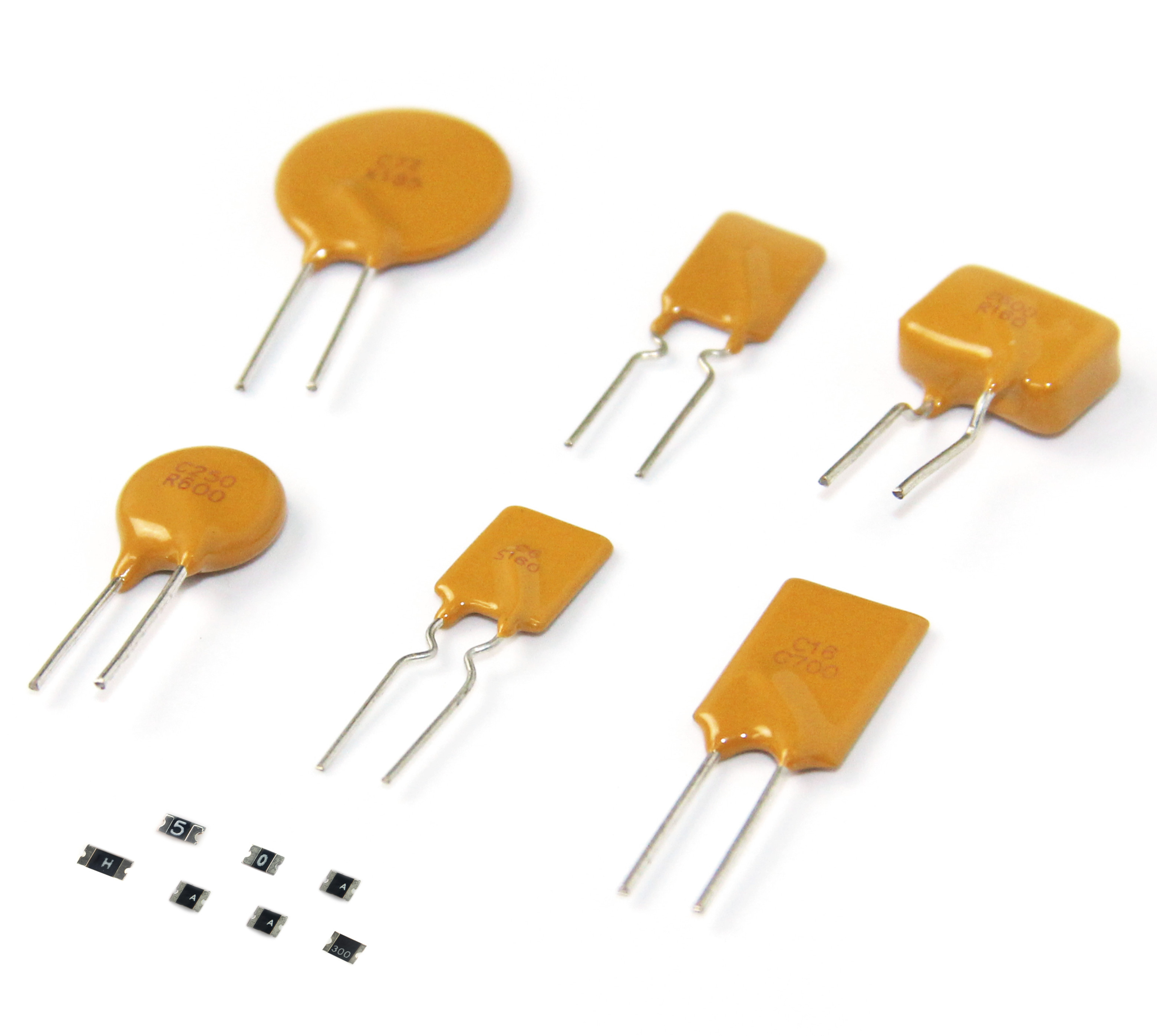 72V-005 IH 0.05A IT 0.1A 60V 5s 0.3W Rmin 7.5 Ohm 72V Series thermistor PPTC resettable PolySwitch PTCs fuse  THT