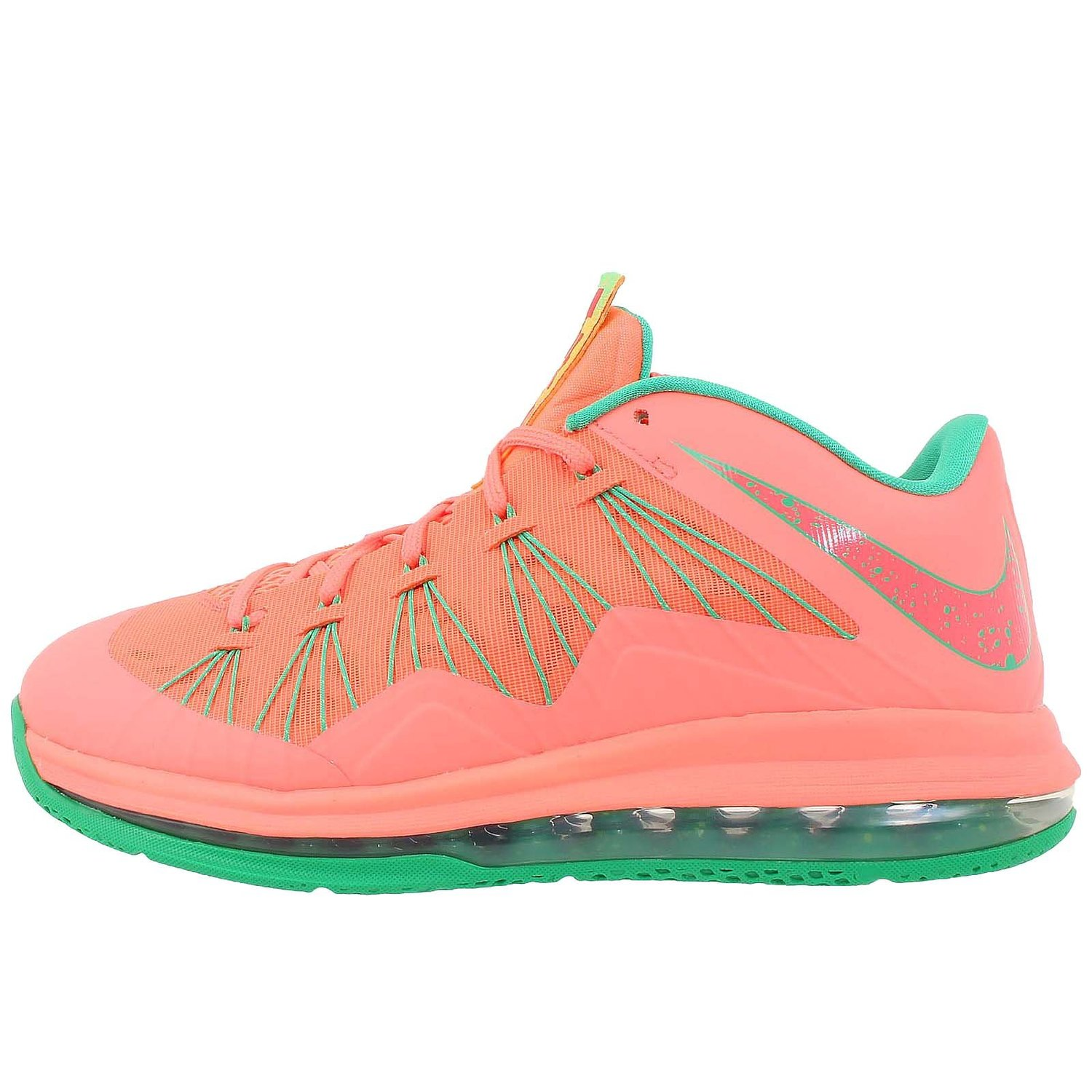 huge discount f378b 8d416 nike air max lebron X low mens basketball trainers 579765 801 sneakers shoes  watermelon
