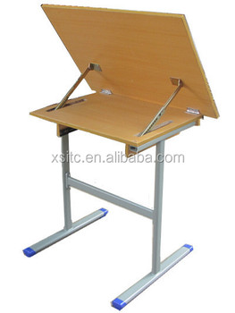 Art School Classroom MDF Folding Furniture For Drawing Table,wood Drafting  Table
