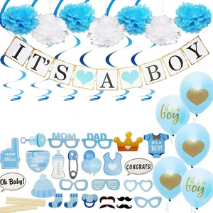 EasternHope Baby Shower Decorations, Includes matching Its A Boy Banner Balloons, Cute Photo Booth Props Flower Decor