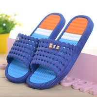 2017 New Summer House Slippers Slides Anti-Slip PVC Lovers Solid Color Bathroom Cool Slippers Home Shoes