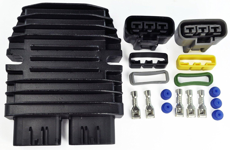 Improved Mosfet Voltage Regulator Rectifier For BMW Can-Am Polaris Sea-Doo Ski Doo Triumph Yamaha Kawasaki Honda Lynx 1994-2016 OEM Repl.# 710000261 4012941 31600-HP0-A01 21066-0022 21066-0008