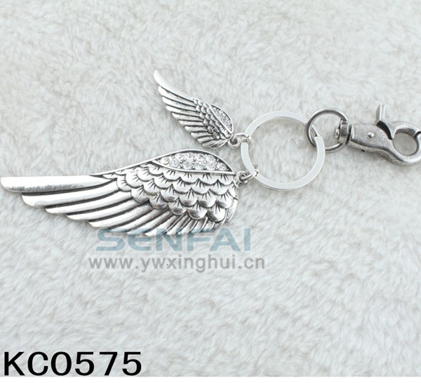 64c02b55913 US $7.89 |Novelty Couple Key Ring Antique Silver Angel Wing Keychain  Vintage Key Chain Trinket Innovative Metal Keychains, Creative Gifts-in Key  ...