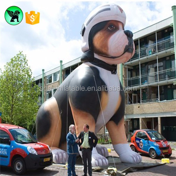 Customed giant advertising inflatable dog cartoon character ST241