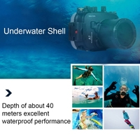 Wholesale Newest 40M waterproof case,Drop Shipping camera housing,outdoor camera housing for Sony A7 / A7S / A7R