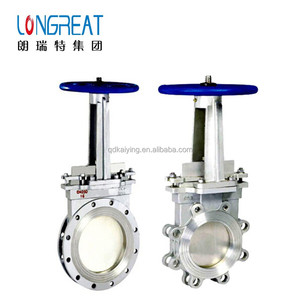 DIN ANSI flange type lug type knife gate valve with hand wheel for water supply