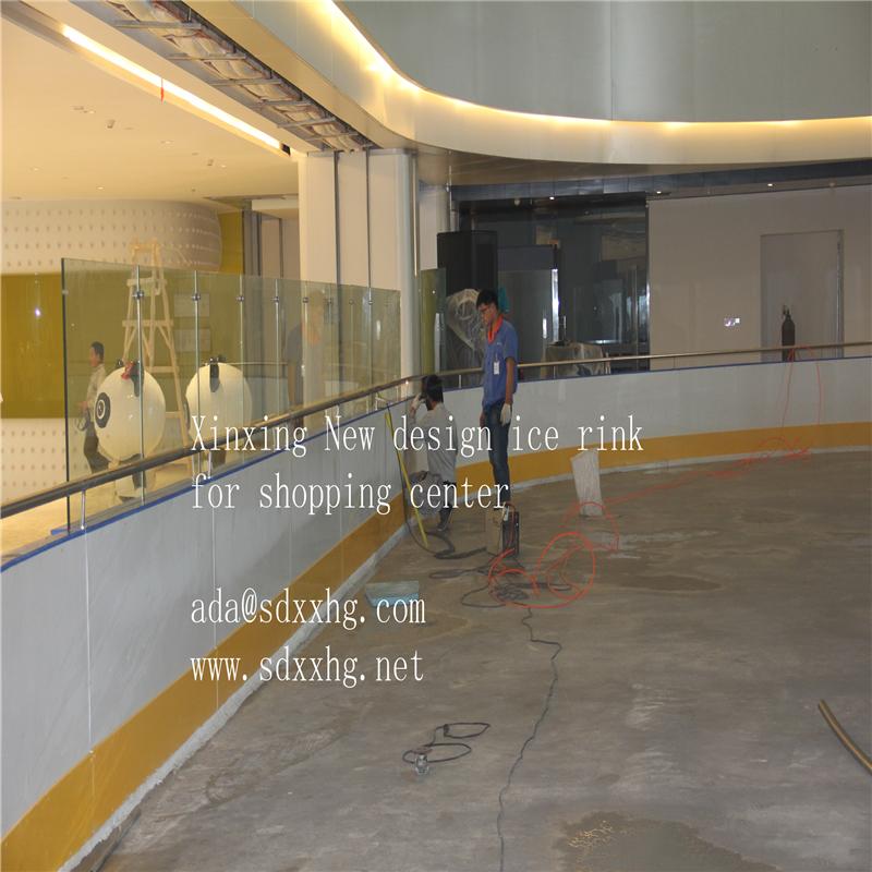 Hot Sale White Hard Plastic Roller Skating Flooringice Rink Dasher - Roller skating rink flooring for sale