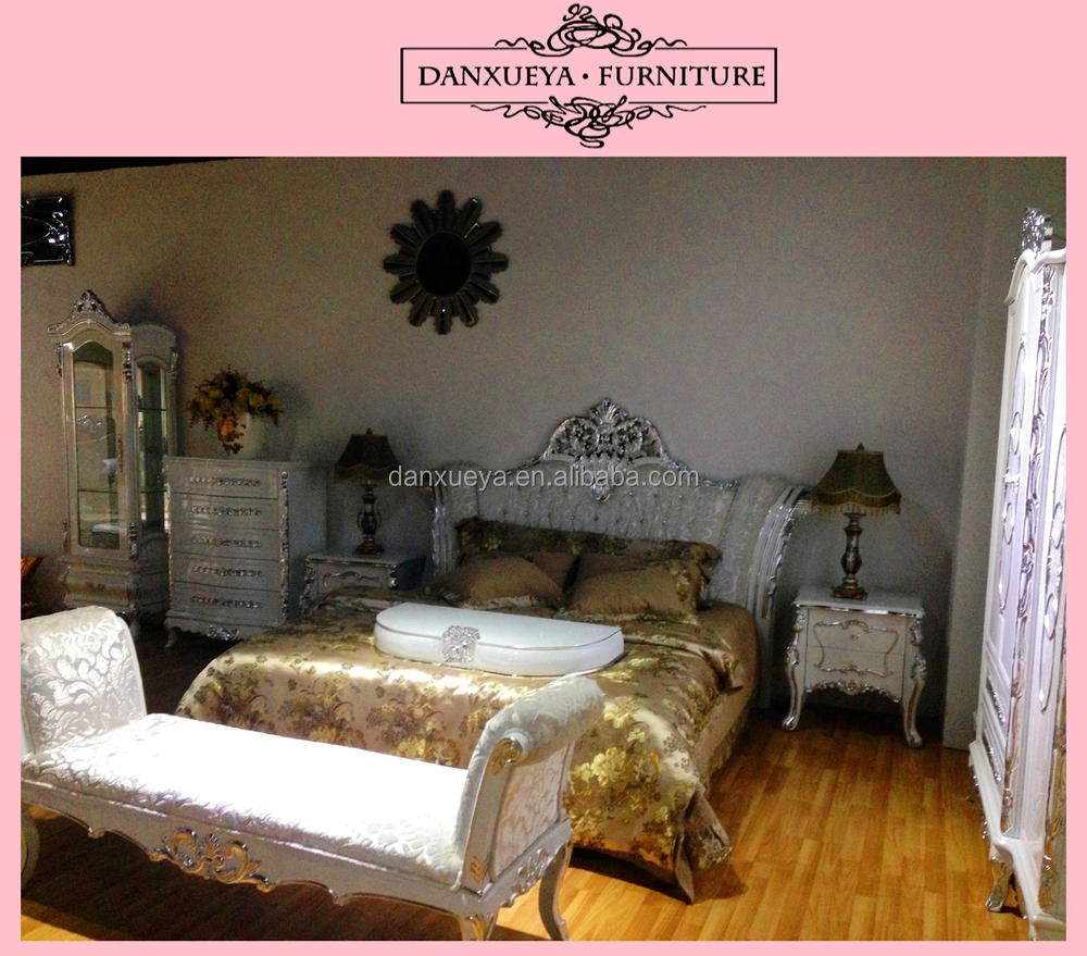 Exotic Bedroom Furniture , Majlis Luxury Bed , French Baroque Bed Sets