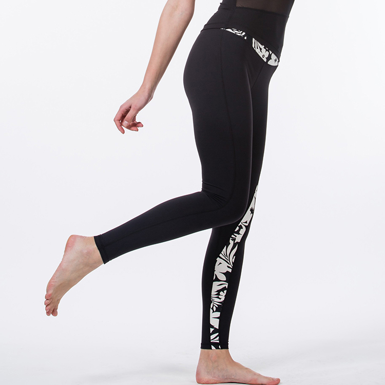 Custom outdoor vrouwen sport fitness yoga broek vlakte leggings