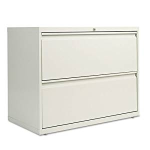 Four-Drawer Lateral File Cabinet, 42w x 19-1/4d x 53-1/4h, Putty