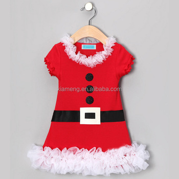 newest arrival fashion christmas frock design knitted cotton dress baby newborn christmas dresses