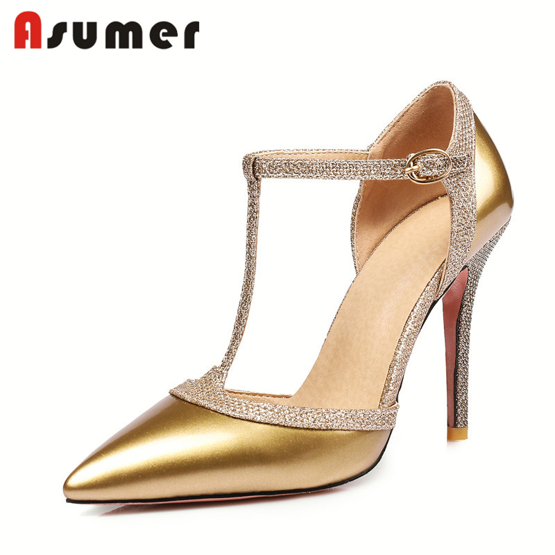 Asumer new design wedding fancy crocs high heel sandals