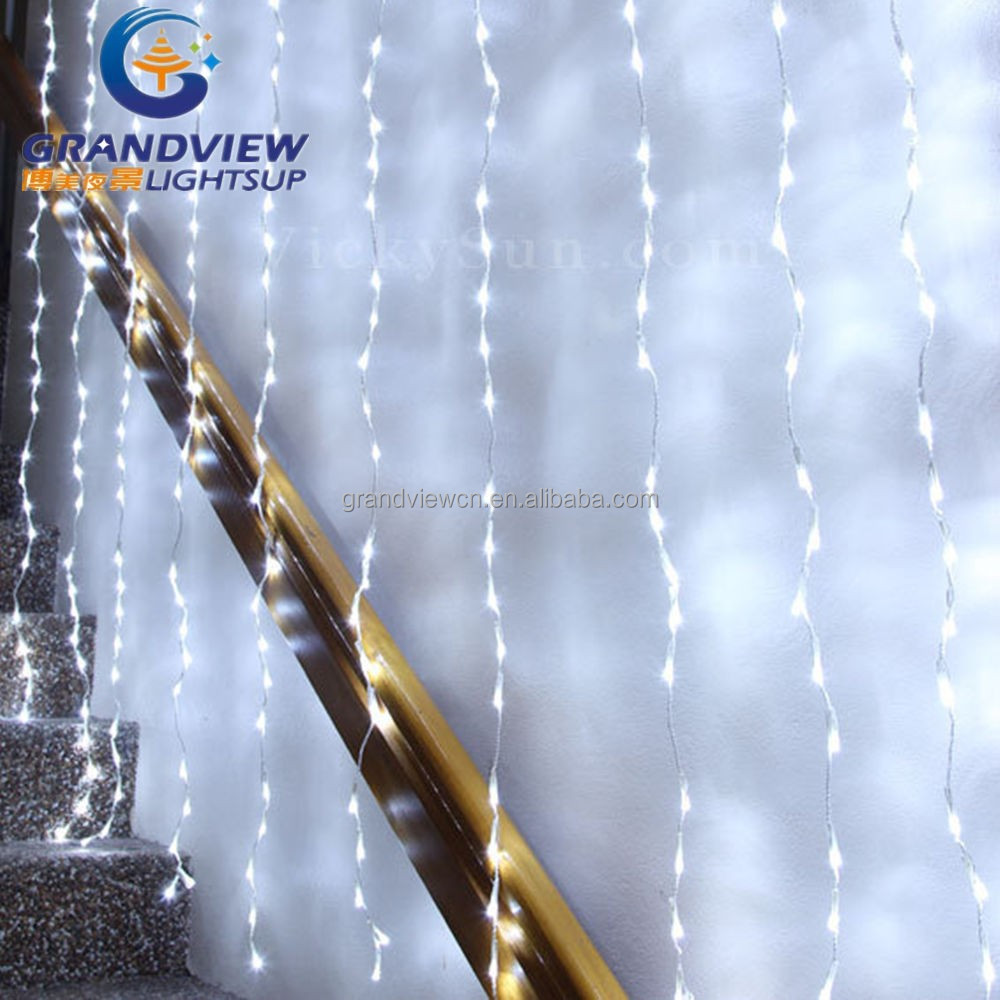 White Color Led Christmas Curtain