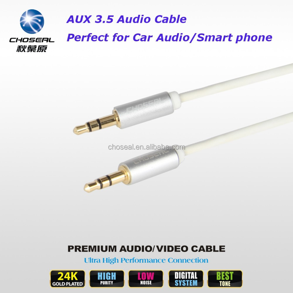CHOSEAL 3.5mm Jack Audio Cable Stereo AUX Cable for iPhone, iPod/MP3, iPad/Tablet, Car Stereo, PC, Speaker & Headset