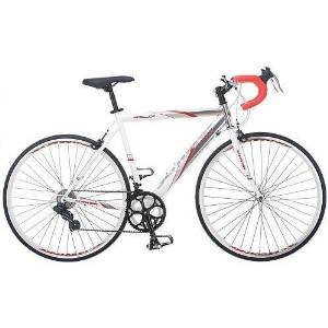 a994cd5accf Get Quotations · 56 cm mens road bike bicycle schwinn silver white entry  level 700c shimano