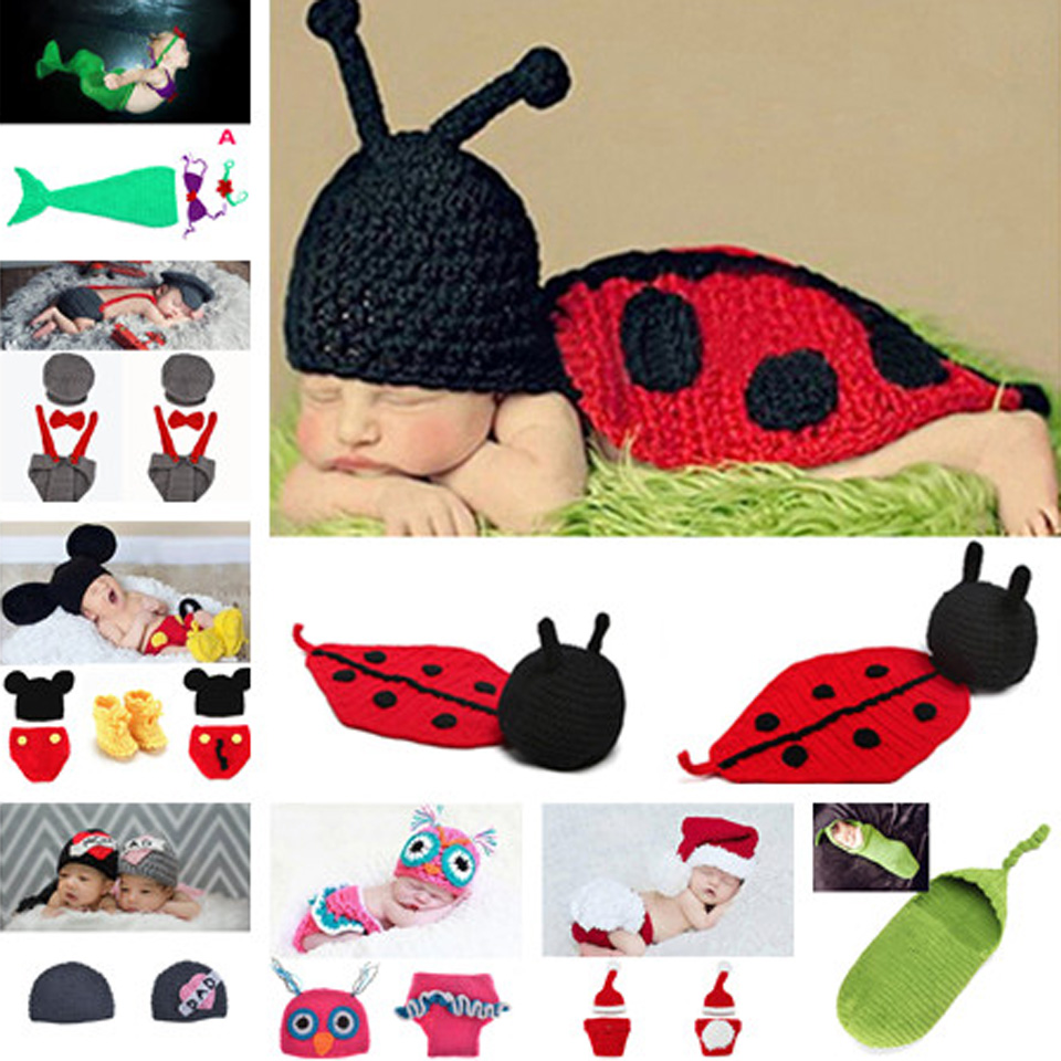 2016 Latest Crochet Baby Sleeping Bags Infant Newborn Photography Props Cocoon Baby Accessory 1pc MZS 14021