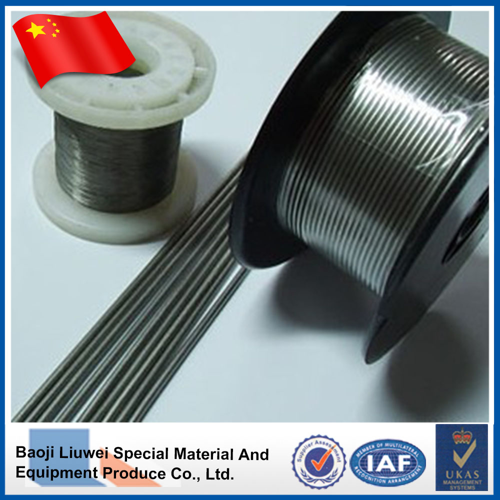 Bright nitinol shape memory alloy wire