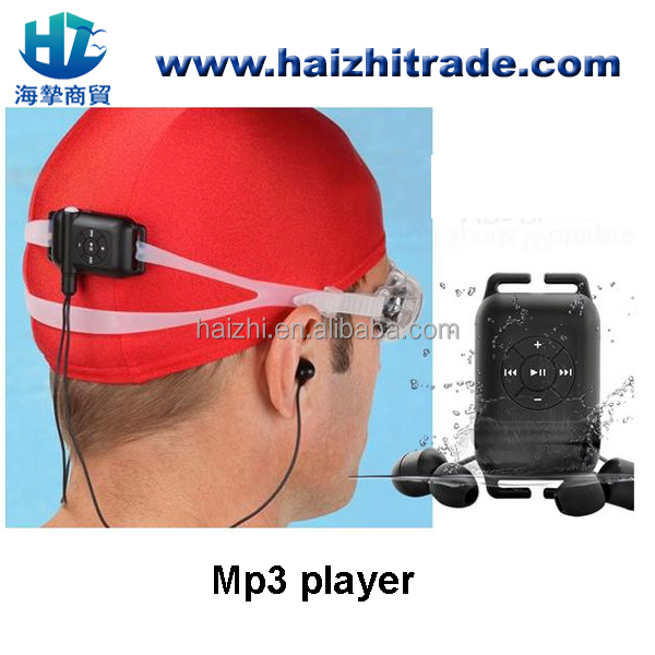 100% IPX8 Waterproof MP3 Player 4GB 8GB Swimming mp3 player underwater