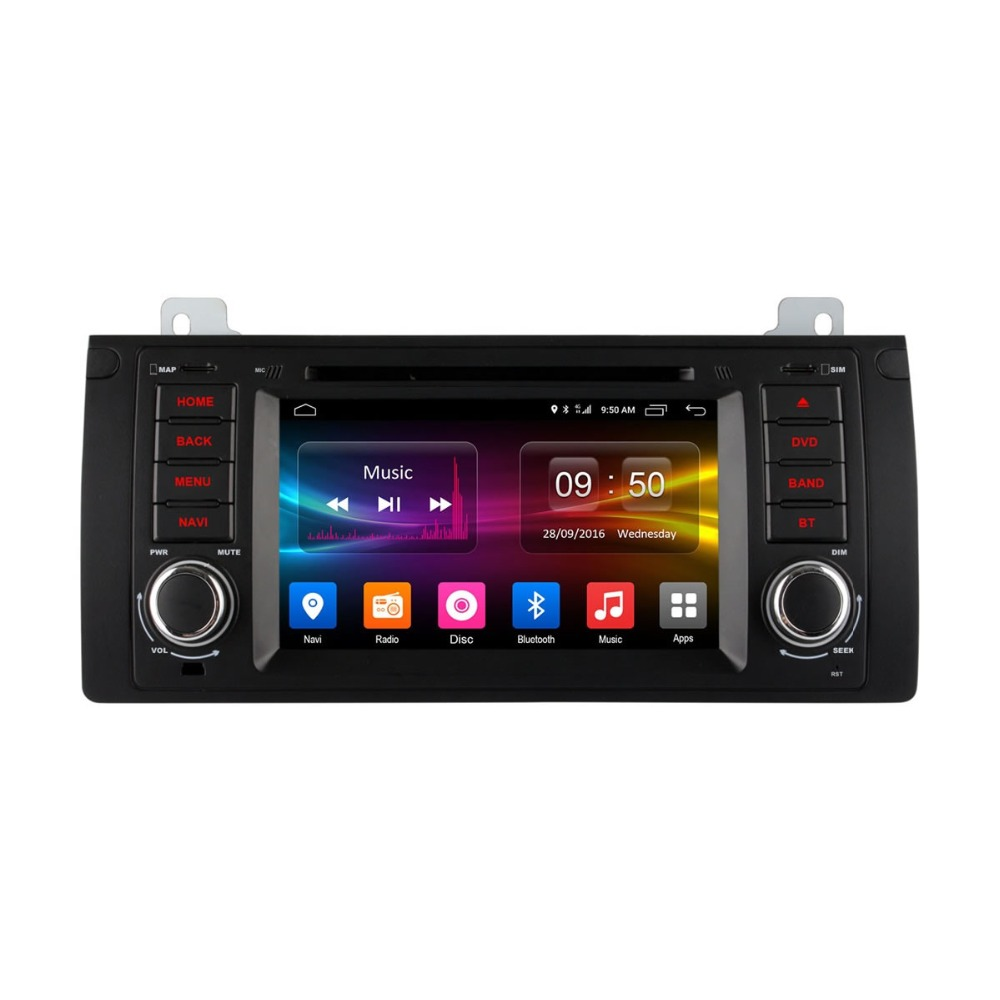 for Bmw X5 dvd gps car radio in car dvd player 7'' android 6.0 2GB RAM Built-in WIFI car dvd for bmw 5 series e39 X5 series E53
