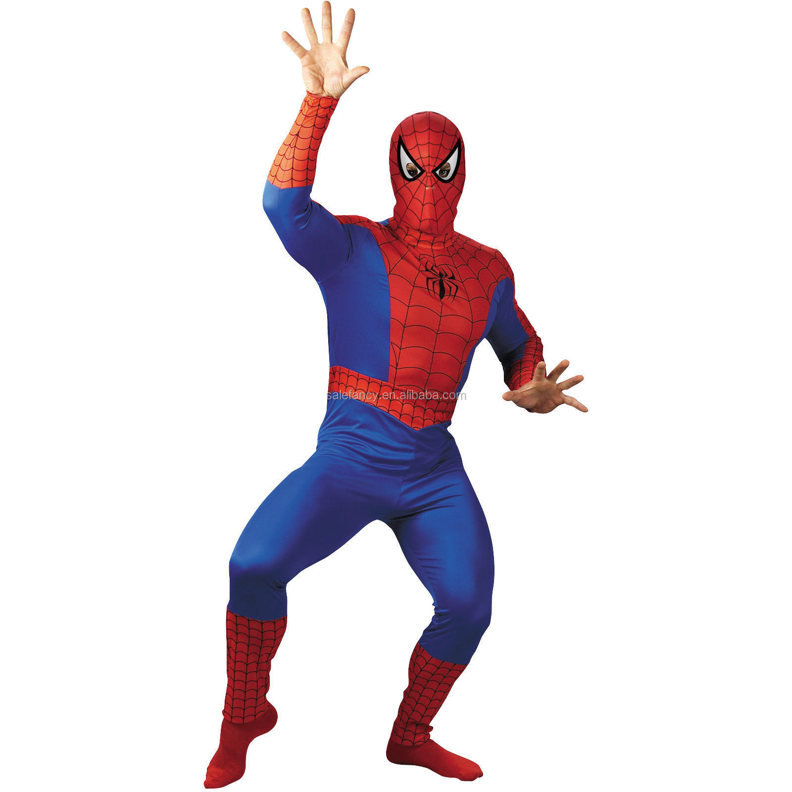 Adult Black Spiderman Costume Spider Man Super Hero Halloween Outfit