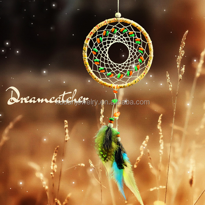Colorful Feather Dreamcatcher Craft, Indian Home Decoration Manufacture