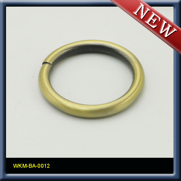 "3/4"" Brass steel Welded metal o-ring loop buckle"