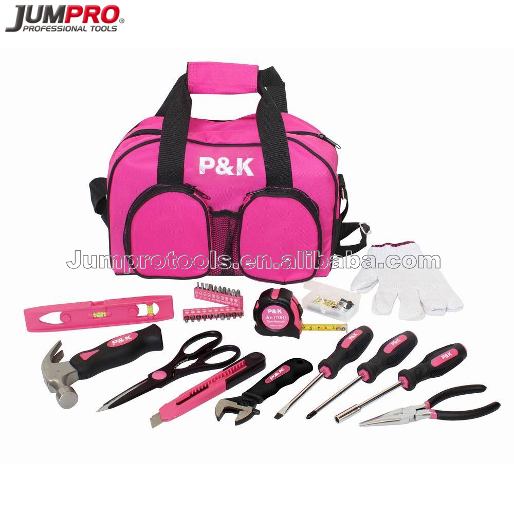 77pc Pink Lady Tool Kit with Tool Bag Bag 2017 New Women Gift Tool Set