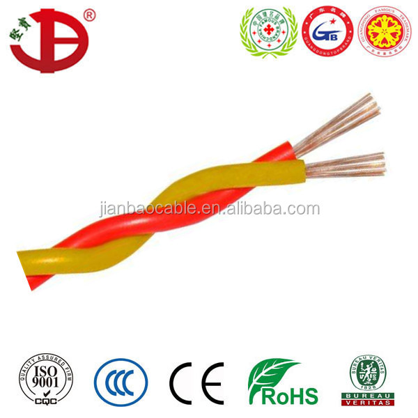 RVS twist-pair stranded and annealed copper wire 2 cores fire alarm electrical cable
