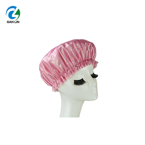 new design shining laser fabric prevent hair wet shower cap