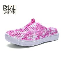 Женские летние слиперы, повседневные Сабо, дышащие пляжные сандалии, шлепанцы на День святого Валентина, домашняя обувь для женщин(Китай)