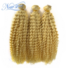 Blonde curly hair extension, Raw 8A Grade Wholesale Human Virgin Hair Deep curly blonde bundles