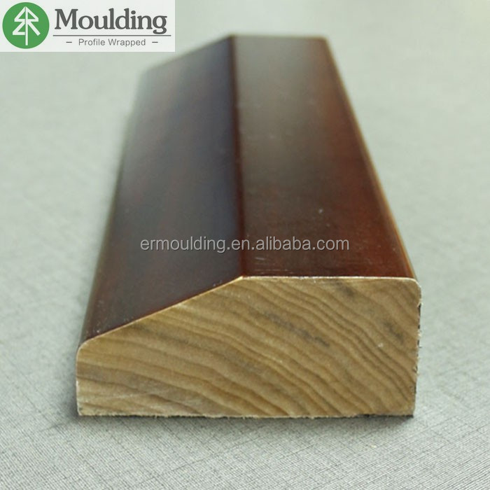 interior wall decoration bevel wood veneer wrapped casing moulding