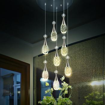 Moderna iluminaci n led burbuja l mpara de cristal for Casa moderna restaurante salta
