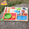 wholesale preschool play food wooden cooking toys new design wooden cooking toys for kids W10B187