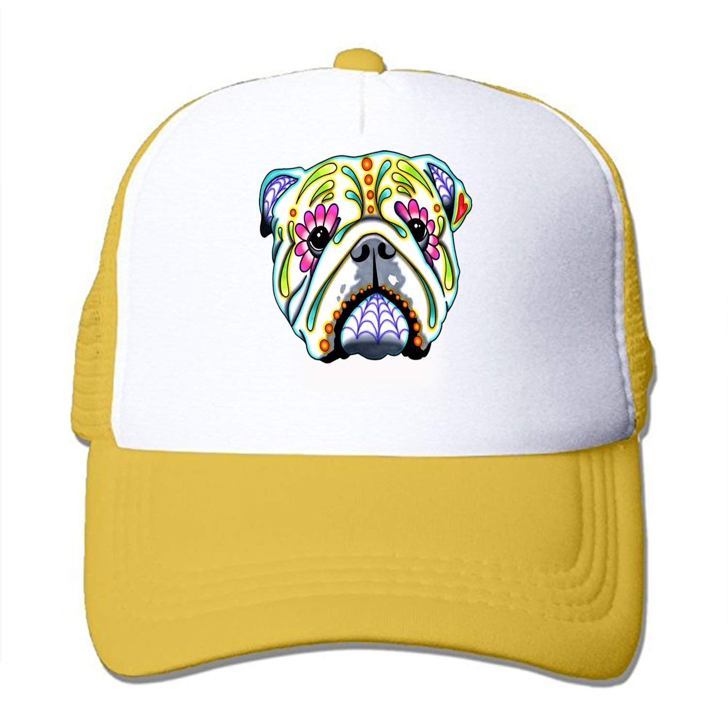 c008cb701b0 Get Quotations · Una Stowe Adult Tribal Pug Print Pattern Adjustable  Baseball Cap Hat